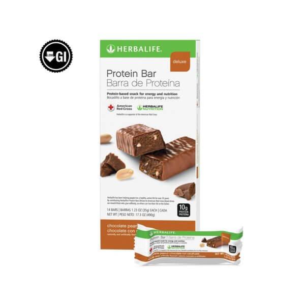 Barra de Proteína Deluxe Herbalife sabor Chocolate con Cacahuate (14 u.)