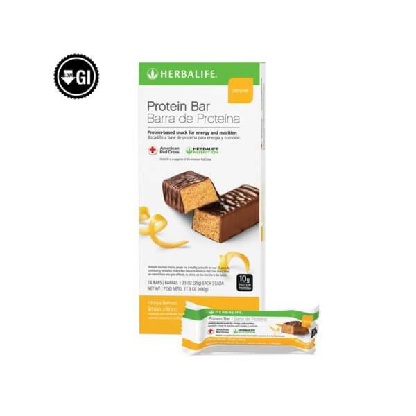 Barra de Proteína Deluxe Herbalife sabor Limón Cítrico (14 u.)