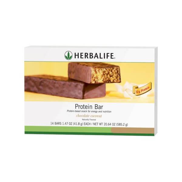 Barra de proteína Herbalife sabor Chocolate con Coco (14 u.)