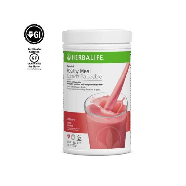 Fórmula 1 Comida Saludable Mezcla Nutricional para Batido Herbalife sabor Moras Silvestres 750 g