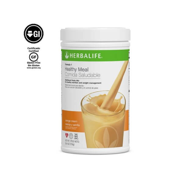 Fórmula 1 Comida Saludable Mezcla Nutricional para Batido Herbalife sabor Naranja y Vainilla 750 g