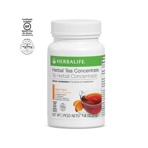 Té Herbal Concentrado Herbalife sabor Durazno 1.8 Oz