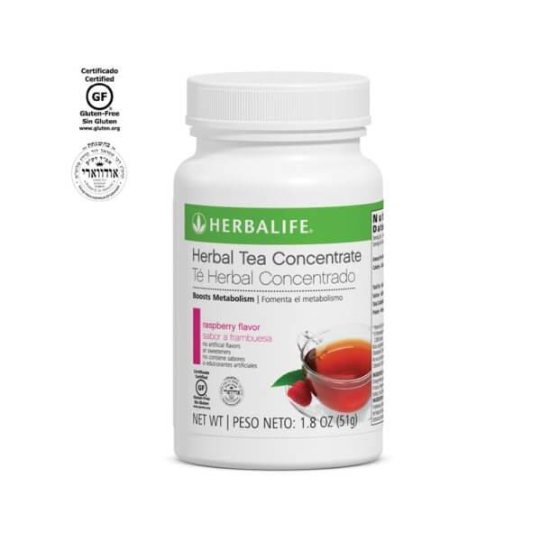 Té Herbal Concentrado Herbalife sabor Frambuesa 1.8 Oz