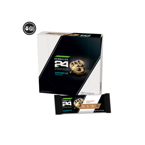 Barra de Proteína ACHIEVE de Herbalife24- cookie dough con trocitos de chocolate